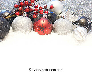 Snowy Christmas decorations