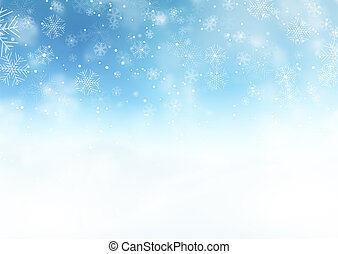 Snowy Christmas landscape background