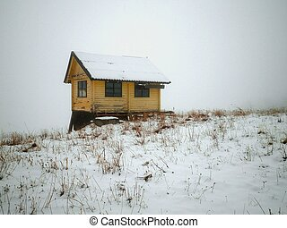 Snowy Cottage in Siberia