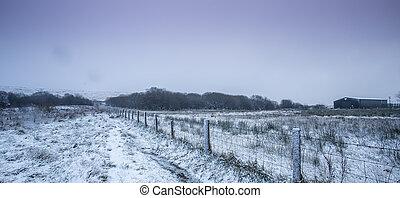 Snowy Countryside Scene