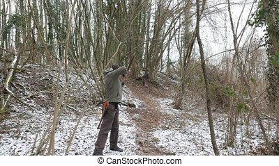 snowy forest archer