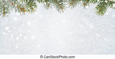snowy glittering christmas or new year background -...