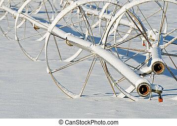 Snowy Irrigation Lines