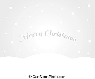 Snowy landscape Christmas winter greeting card.