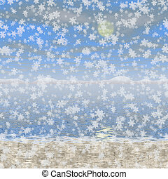 Snowy landscape generated hires background