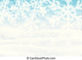 Snowy landscape, vector