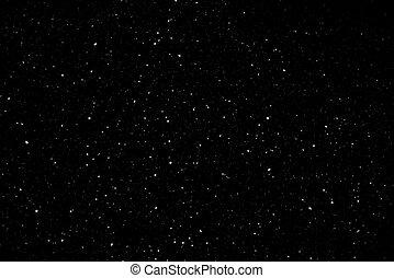 Snowy Milky Way in the night sky