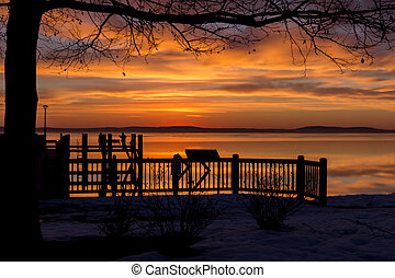Snowy Morning Sunrise