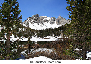 Snowy Mountain Lake