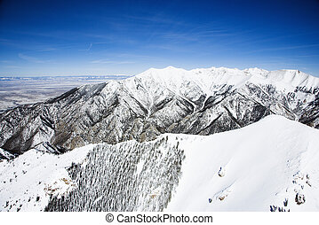 Snowy mountain landscape, Colorado.
