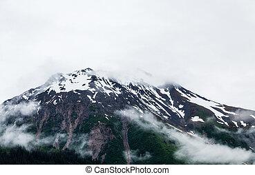 Snowy Mountain Peak near Seward