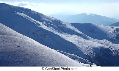 Snowy Mountains and Clouds