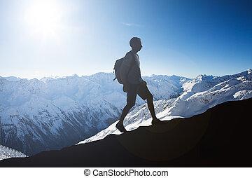 Snowy Mountains Of Otztal Alps In Tirol; Austria