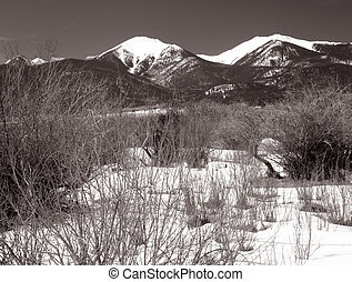 Snowy Mountains - Snow covered mountains in the Sangre de...