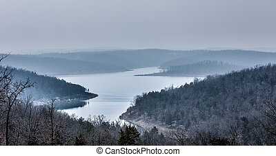 Snowy Mountains - Snow on the ozark mountains in Arkansas