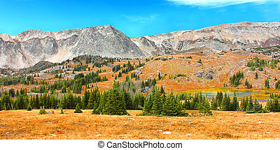 Snowy Range Mountains Wyoming - Rugged mountains and...
