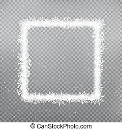snowy square frame winter template
