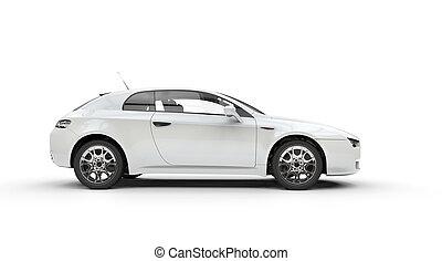 Snowy White Family Car