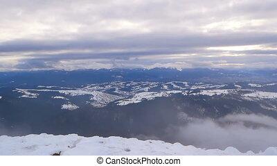 Snowy winter landscape mountain