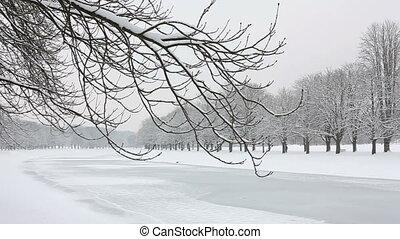 snowy winter landscape - white snowy winter landscape