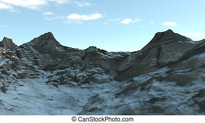 Snowy Winter Mountain Side
