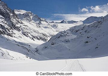 Snowy Winter Valley, Austria