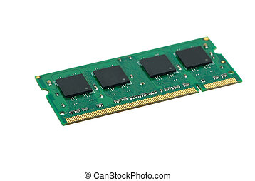 SO-DIMM memory module isolated on the white background