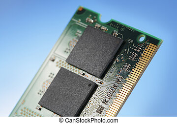 SO-DIMM RAM laptop memory module in closeup