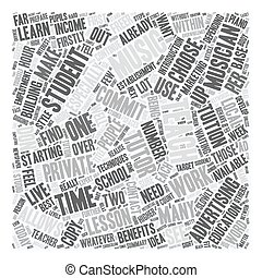 So You Want To Teach As A Private Music Tutor text background wordcloud concept