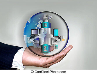 soa, homens, negócio, aplicação, móvel, esb, global, distributed, integração, mão, aplicações, legado, vário, empresa