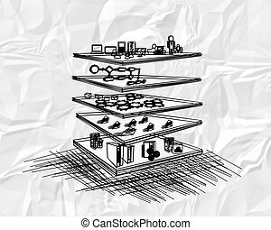 SOA Layered Architecture - Illustration of Service Oriented...