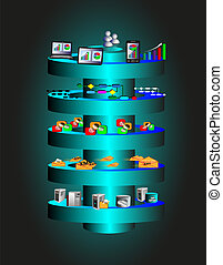 SOA Layered Architecture - Vector Illustration of Service ...