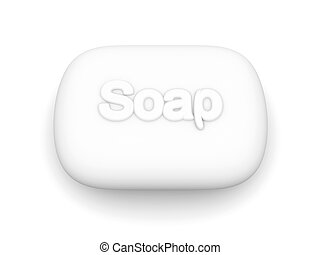 Soap - 3D rendered Illustration.