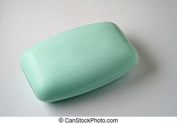 Green soap bar