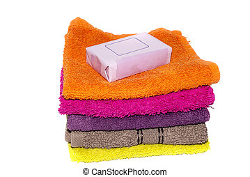 soap bar on cloth