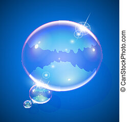 soap bubble for message