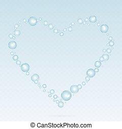Soap bubbles background.