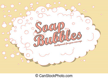 soap bubbles - Retro soap bubble background with space for...
