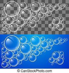 Soap Bubbles - Cool Transparent Soap Bubbles. Illustration...