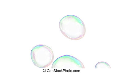 Soap Bubbles flying loop-able - Soap Bubbles flying in...