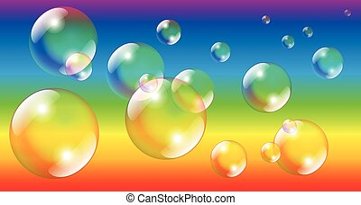 Soap Bubbles Rainbow Colors