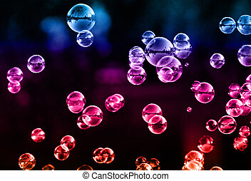 Soap bubbles - The rainbow bubbles from the bubble blower