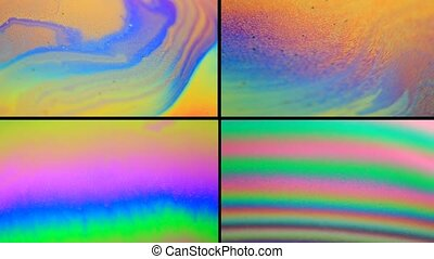 Soap Bubbles - abstract change of flowers in a soap bubble