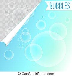 Soap bubbles white shampoo clipart on transparent background