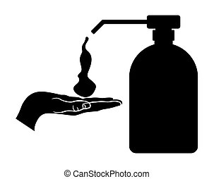 Soap dispenser - Vector illustration of the soap dispenser...