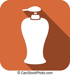 soap dispenser plastic pump icon