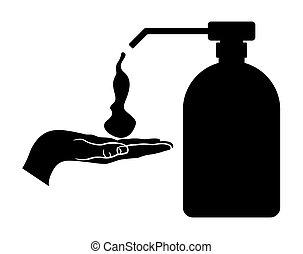 Soap dispenser - Vector illustration of the soap dispenser...