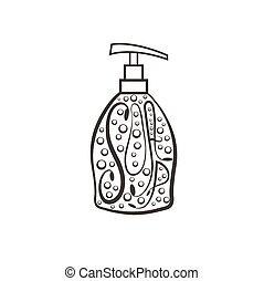Soap dispenser with bubbles
