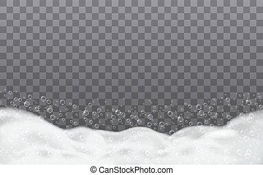 Soap foam in the bathroom