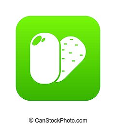 Soap icon green isolated on white background
